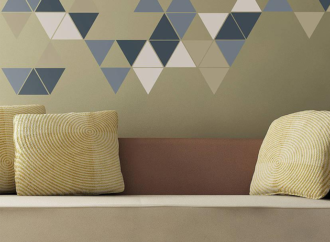 Incluye la geometría con estilo en la decoración de tu hogar